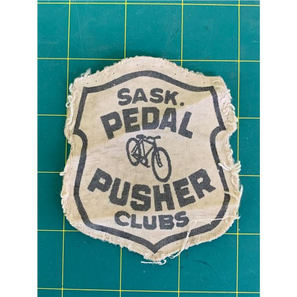 1940s 50s? SASK PEDAL PUSHERS BICYCLE CLUB PATCH