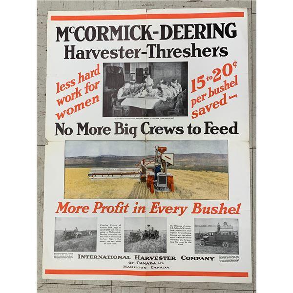 1920 IHC INTERNATIONAL HARVESTER FARMALL FOLD OUT MCCORMICK DEERING THRESHERS ADVERTISING BROCHURE