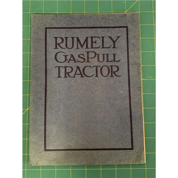 ORIGINAL 20 PAGE RUMELY GASPULL TRACTOR ADVERTISING BOOK