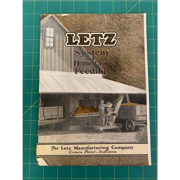 EARLY LETZ MANUFACTURING COMPANY 47 PAGE ADVERTISING BOOK HOME CROP FEEDING