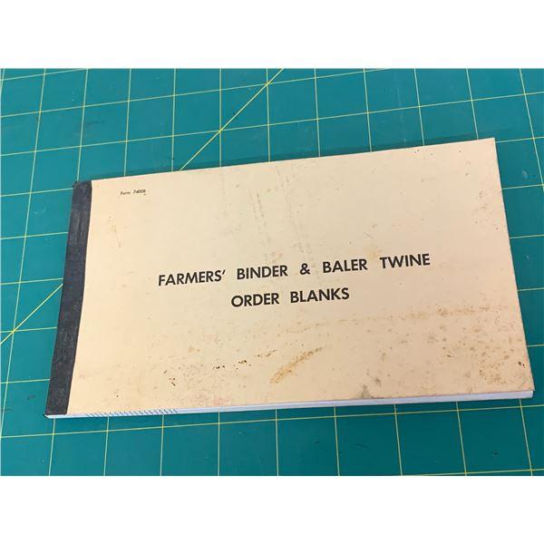 UNUSED INTERNATIONAL HARVESTER TWINE ORDER FORM BOOK