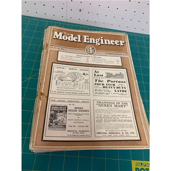 LOT OF 20 1930s MODEL ENGINEER MAGAZINE