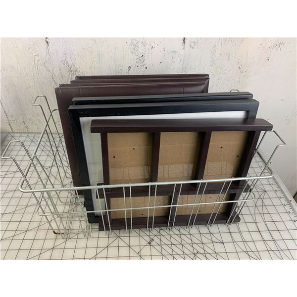 WIRE BASKETS WITH PICTURE FRAMES