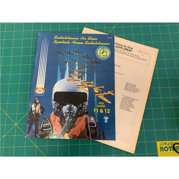 1987 SASKATCHEWAN AIR SHOW BOOK AND PROGRAM