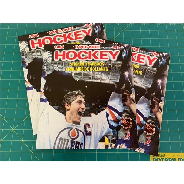 LOT OF 1984 OPEECHEE HOCKEY STICKER BOOKS UNUSED