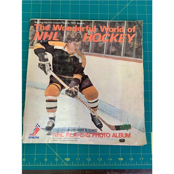 1972-73 NHL HOCKEY PLAYER PHOTO ALBUM BOOK