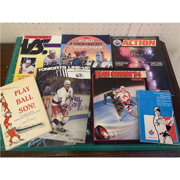 LOT OF SPORTS RELATED BOOKS ETC