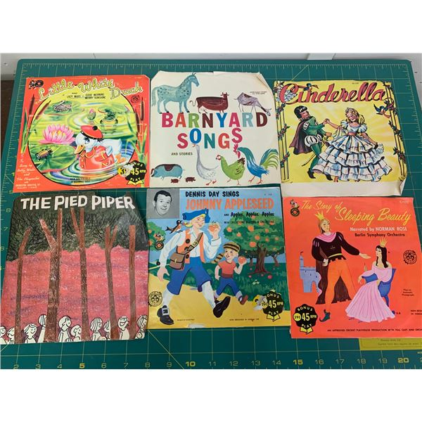 LOT OF CHILDREN'S 45 RECORDS STORIES