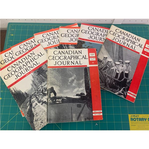 LOT OF CANADIAN GEOGRAPHICAL JOURNAL MAGAZINES