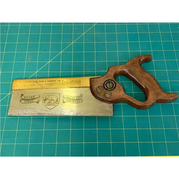 W. TYZACK SONS & TURNER NO 120 ANTIQUE HAND SAW