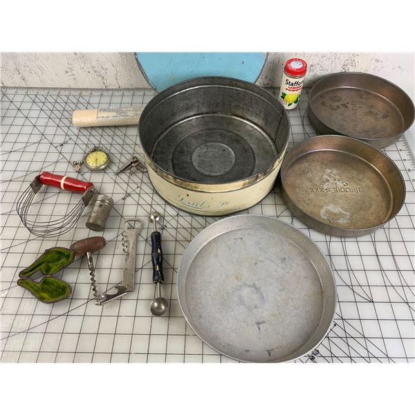 MISC LOT TIN PIPE CASE POCKETWATCH ETC