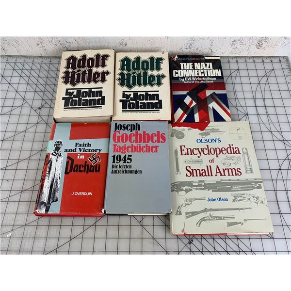 LOT OF WW2 RELATED BOOKS AND ENCYCLOPEDIA OF SMALL ARMS