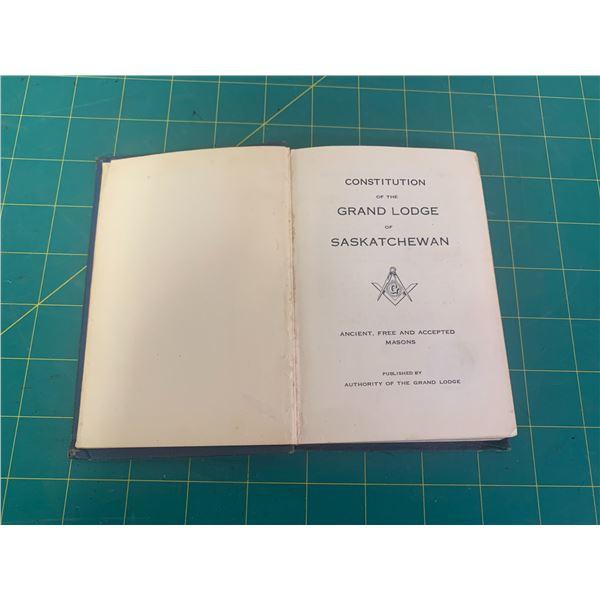 1945 CONSTITUTION GRAND LODGE OF SASKATCHEWAN FREE MASONS HANDBOOK