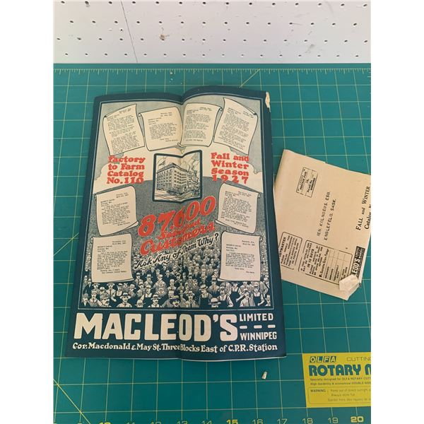 1927 MACLEODS FALL AND WINTER CATALOG