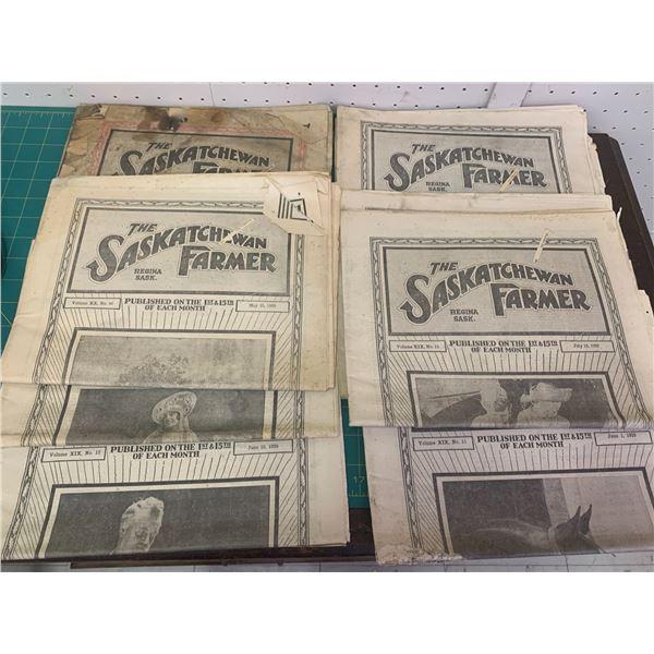 LOT OF 1929 SASKATCHEWAN FARMER NEWSPAPERS