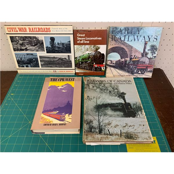 LOT OF RAILROAD TRAIN AND STEAM ENGINE RELATED BOOKS