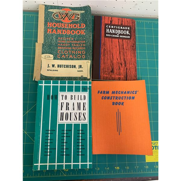 LOT OF OLD BOOKS GWG FARM CEDAR SHINGLES ETC
