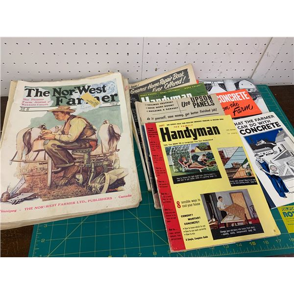 LOT OF 1920s NORWEST FARMER MAGAZINES AND OTHER FARMING PAPER