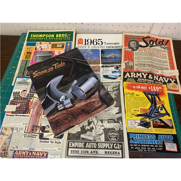 LOT OF VINTAGE CATALOGS BEAVER LUMBER SNAP ON AND MORE
