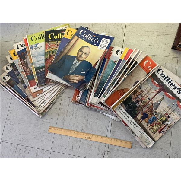 LOT OF 1940s 50s COLLIERS MAGAZINES