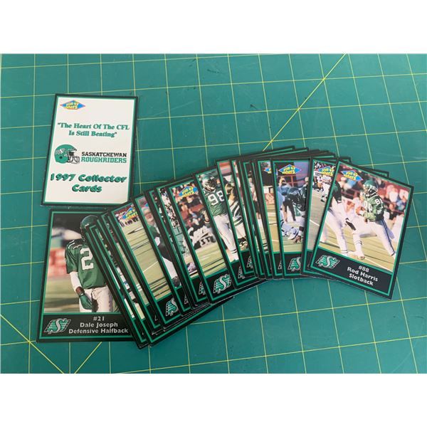 COMPLETE SET 1997 CFL ROUGH RIDERS FOOTBALL CARDS