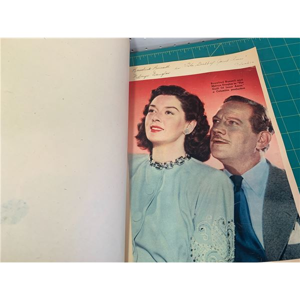 TWO OLD SCRAP BOOKS HOLLYWOOD STARS AND OCCASIONAL CARDS CHRISTMAS ETC