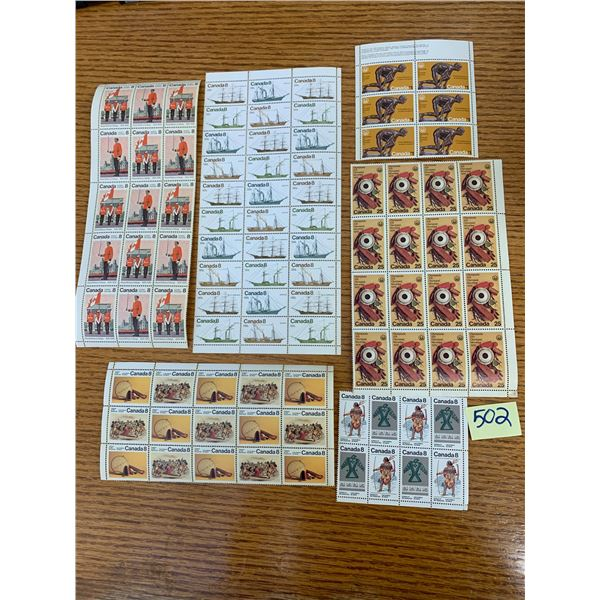 UNUSED VINTAGE CANADIAN POSTAGE STAMPS