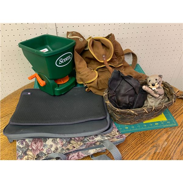 MISC LOT FERTILIZER SPREADER BACK PACK ETC
