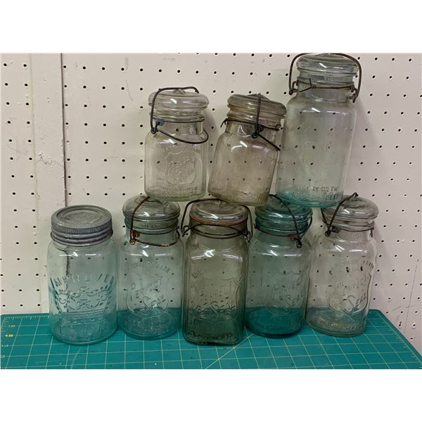 LOT OF OLD JARS