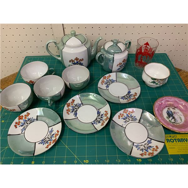 TEA SET AND OTHER CHINA ETC