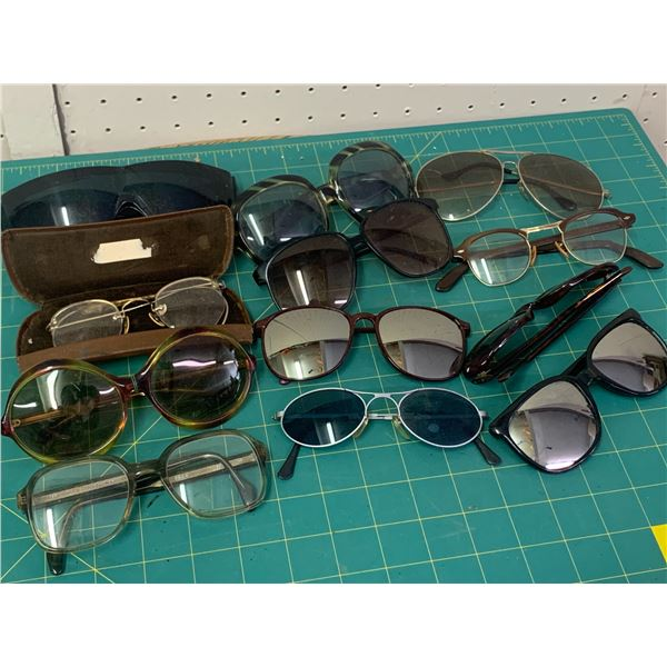 LOT OF VINTAGE GLASSES AND SUNGLASSES