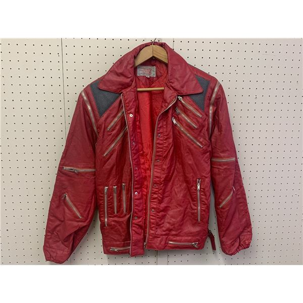 VINTAGE MEDIUM PLEATHER ZIPPER COAT