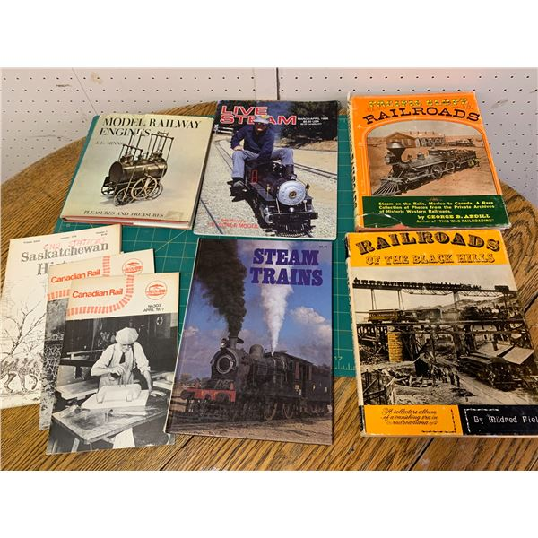 LOT OF RAILROAD AND STEAM ENGINE RELATED BOOKS
