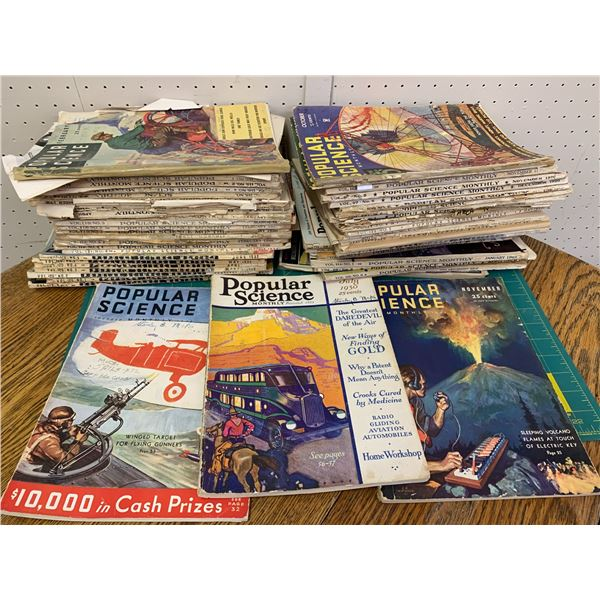 LOT OF 1920s 30s POPULAR SCIENCE MONTHLY MAGAZINES