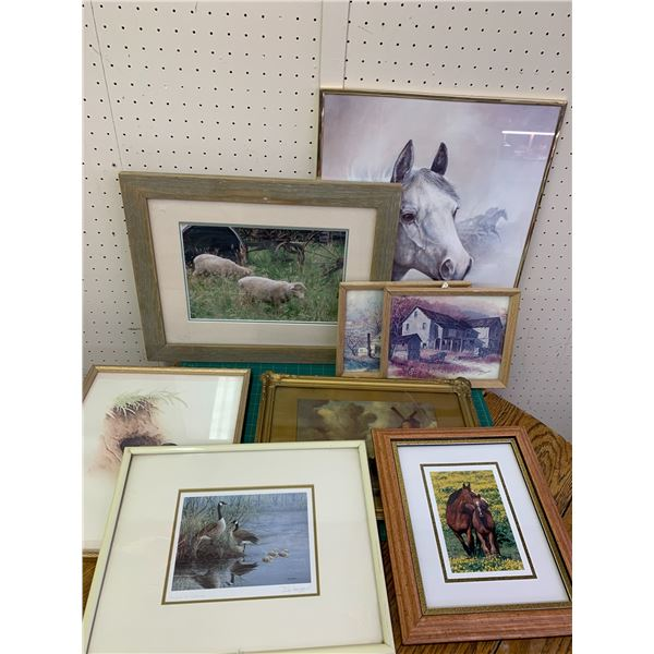 LOT OF FRAMED PIECES