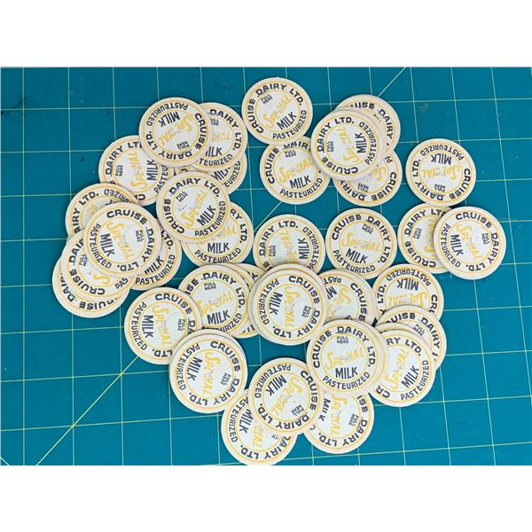 LOT OF CRUISE DAIRY UNUSED MILK BOTTLE CAPS