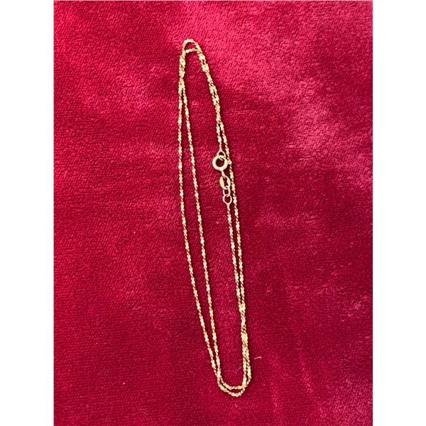 "10 K GOLD 18"" NECKLACE"