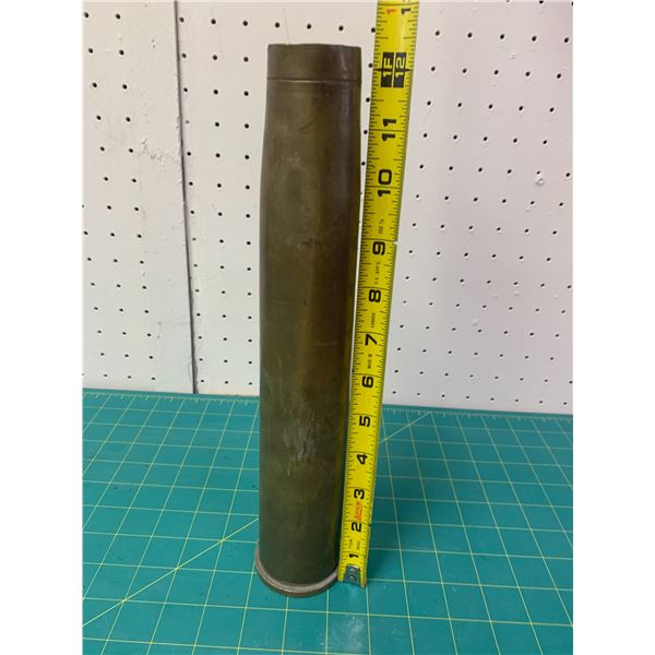 LARGE BRASS SHELL CASING 1954