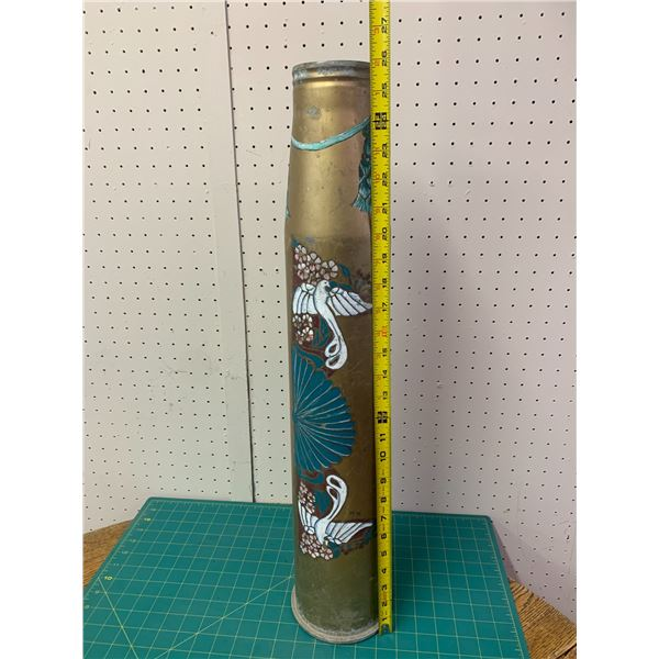 LARGE PAINTED BRASS SHELL CASING