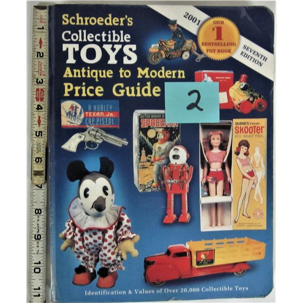 2001 7th edition Schroeder's collectible toy price guide