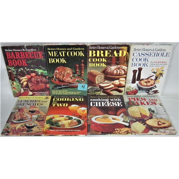 Lot of 8 vintage 1960's better homes & gardens cook books