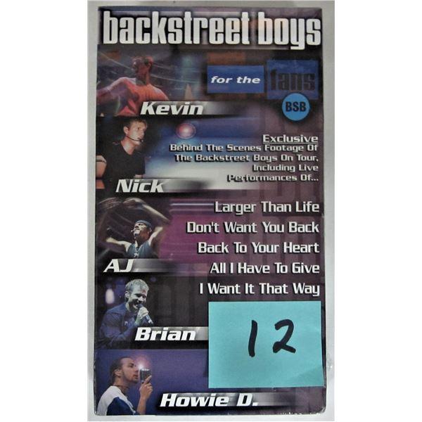 New sealed 2000 backstreet boys 'for the fans' VHS tape