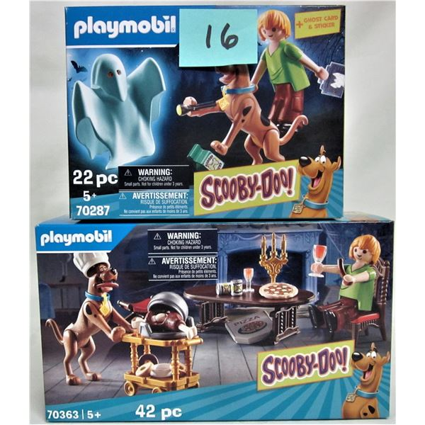2 new 2019 Playmobil Scooby Doo 70287 & 70363 dinner/shaggy & ghost