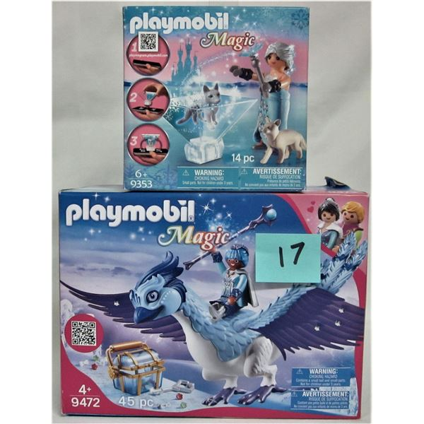 2 new 2018 Playmobil magic sets 9353 & 9472 winter blossom princess