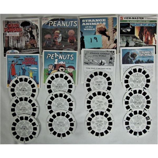 4 sets Viewmaster reels/storybooks