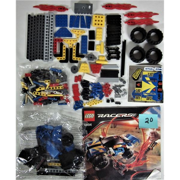 2008 Lego #8494 ring of fire racer 2 sealed bags instructions