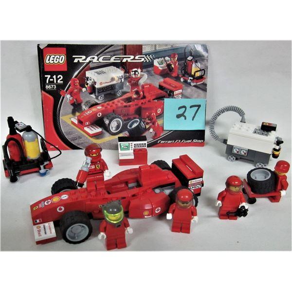 """2006 Lego 8673 """"Ferrari F1 fuel stop"""" + instructions"""