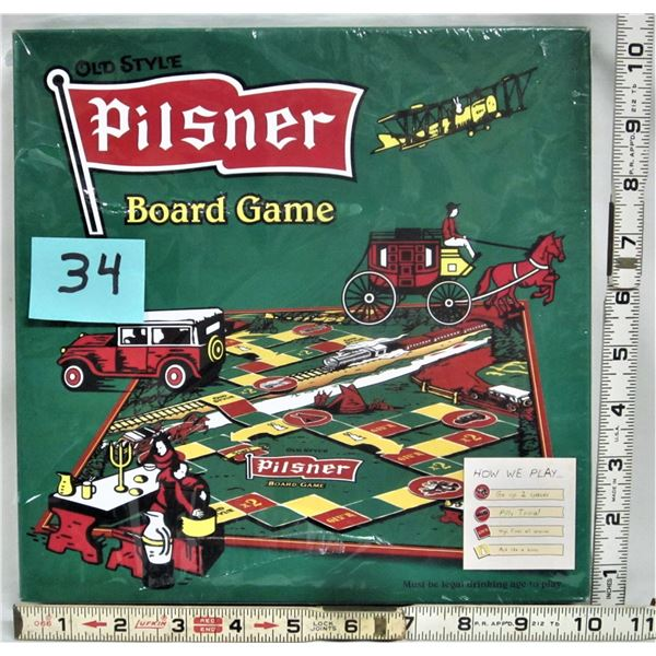 "New sealed ""Old Style Pilsner"" board game"
