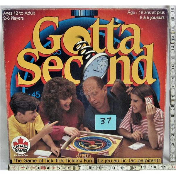 """vintage 1994 """"gotta second"""" family trivia style game"""