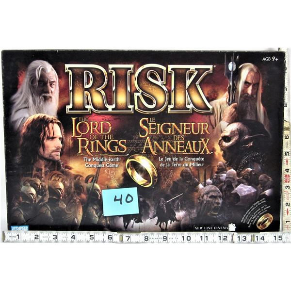2002 Parker Bros Risk lord of the rings middle earth conquest board game